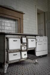 AN old vintage kitchen