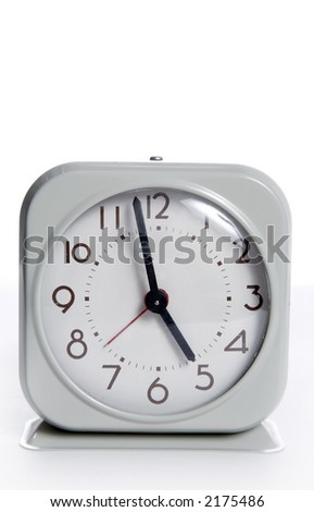 An old vintage wind operated alarm clock