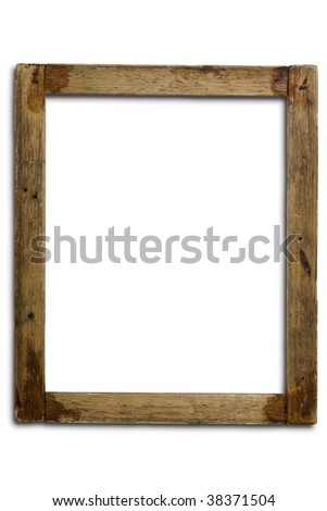 an old wooden frame on white