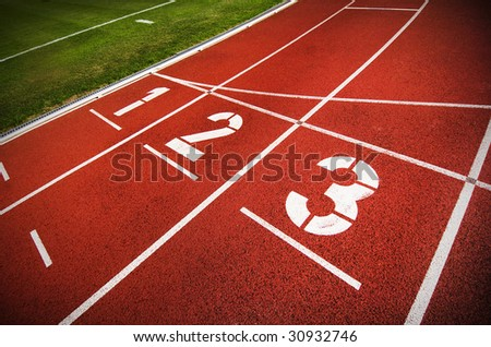 An Olympic running track