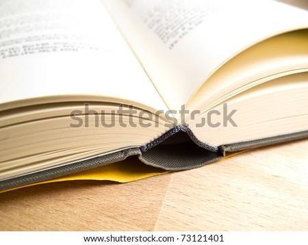 An open book in a typesetter office