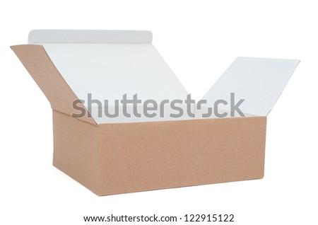 An open carton box