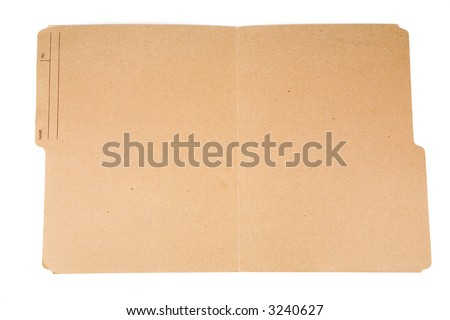 an open file folder with white background