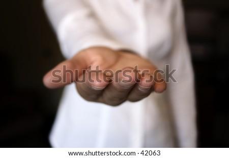 An open hand.