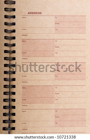 An open old address book