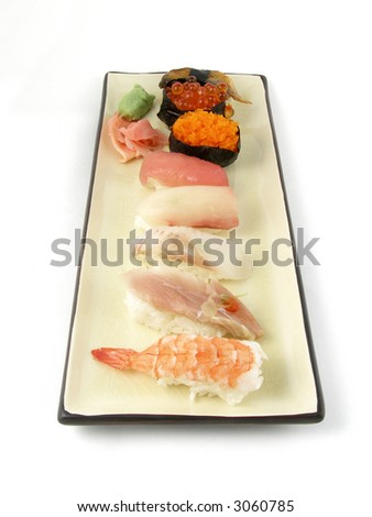 An order of nigiri sushi