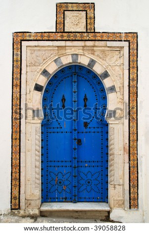 An oriental entrance found in Tunisia