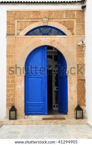 An oriental entrance found in Tunisia