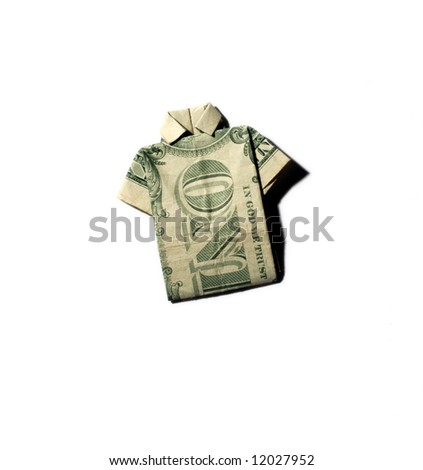 dollar bill origami butterfly. dollar bill origami shirt.