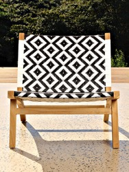 An ornate ethnic Africa pattern woven into a stylish, fashionable chair.