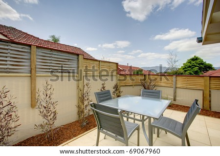 An Outdoor Entertaining Area Stock Photo 69067960 : Shutterstock