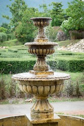 An outdoor park water fountain