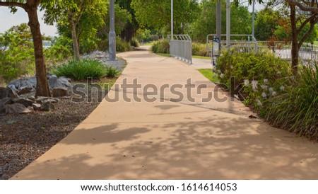 An outdoor recreational walking track