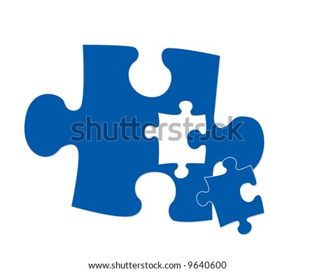 An puzzle piece illustration symbolizing connectivity, fitting.