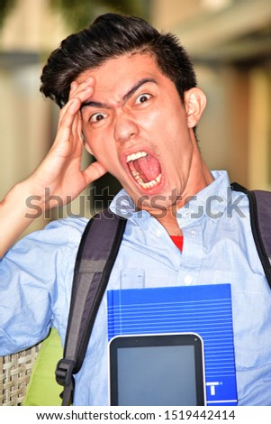 An University Male Student Under Stress