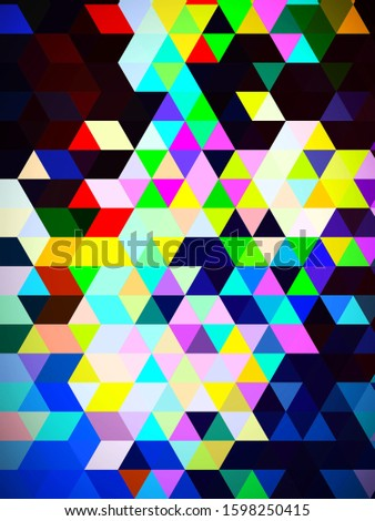 An unsurpassed dollish illustration of geometric pattern of squares and rectangles with abstract colored background. Stock photo ©