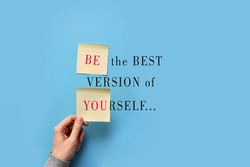 An unusual inscription in the form of a postcard: be the best version of yourself