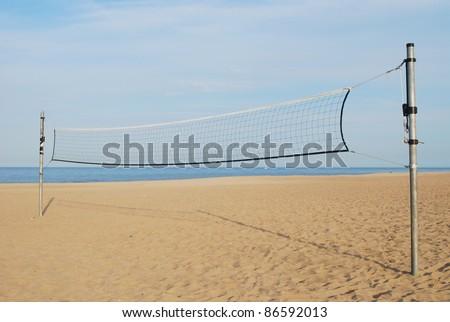 An volleyball playground background