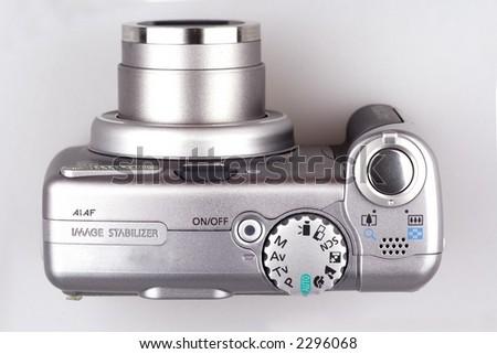 An 6x optical zoom digital camera close up.