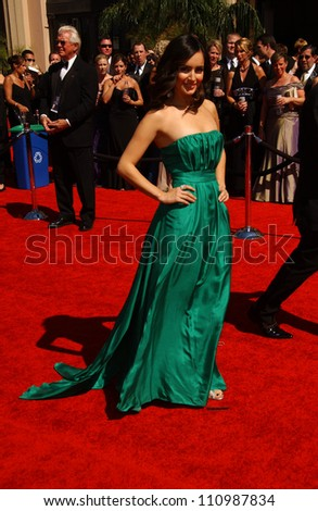 Ana de la Reguera arriving at the 59th Annual Primetime Emmy Awards. The Shrine Auditorium, Los Angeles, CA. 09-16-07