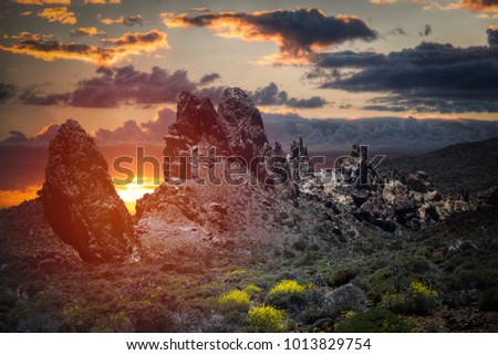 Anaga mountain in Tenerife, Spain, Europe. Picturesque places #1013829754