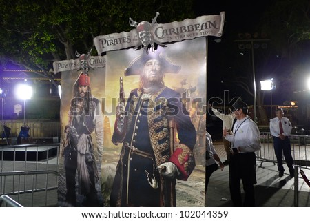 ANAHEIM - MAY 7: Atmosphere at the world premiere of 'Pirates of the Caribbean: On Stranger Tides' held at Disneyland in Anaheim, CA on May 7, 2011. - stock photo