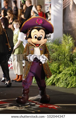 ANAHEIM - MAY 7: Atmosphere (Mickey Mouse) at the world premiere of 'Pirates of the Caribbean: On Stranger Tides' held at Disneyland in Anaheim, CA on May 7, 2011.