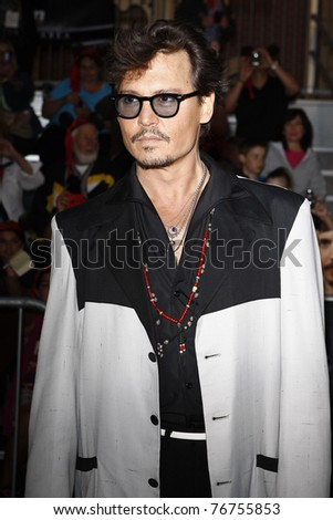 ANAHEIM - MAY 7: Johnny Depp at the world premiere of 'Pirates of the Caribbean: On Stranger Tides' held at Disneyland in Anaheim, CA on May 7, 2011.