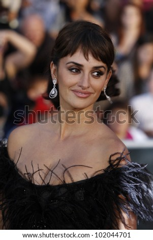 ANAHEIM - MAY 7: Penelope Cruz at the world premiere of 'Pirates of the Caribbean: On Stranger Tides' held at Disneyland in Anaheim, CA on May 7, 2011.