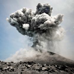 Anak Krakatau erupting