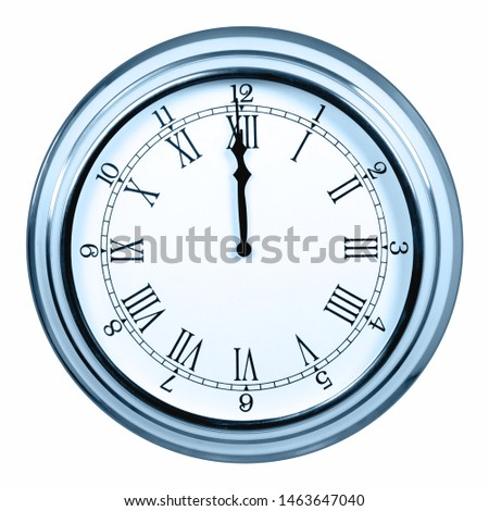 Analog clock showing midnight or noon