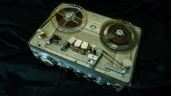 Analog Stereo Open Reel Tape Deck Recorder Player with Metal Reels,Vintage Analog Stereo Reel Deck Tape Recorder
