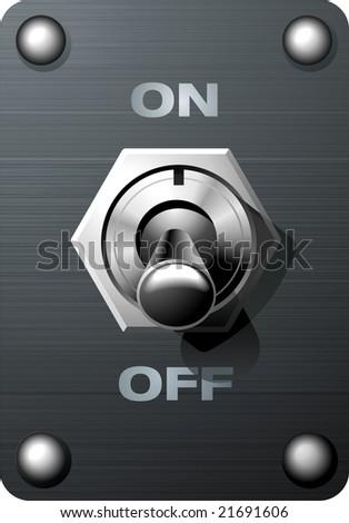 Analog toggle switch tumbler control