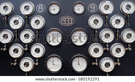 analogue gauge wall. industrial ...