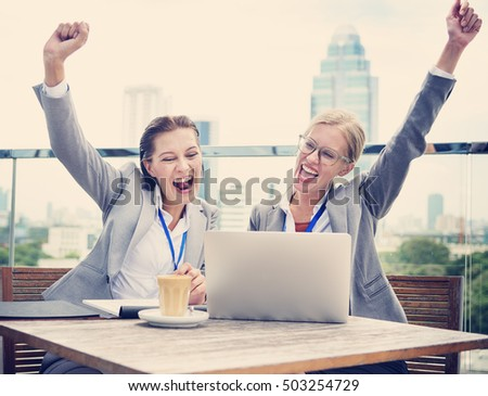 Analysis Business Cheerful Support Strategy Concept #503254729