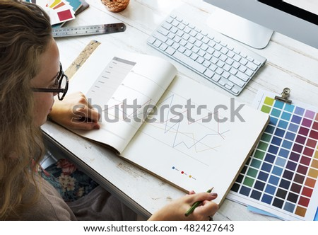 Analysis Information Statistics Report Graphic Concept - Shutterstock ID 482427643