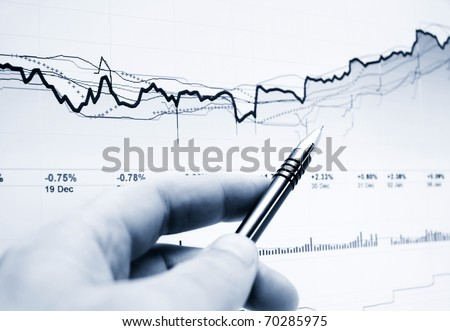 Analysis of stock market graphs
