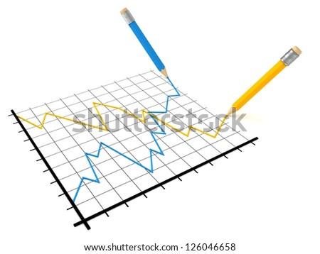 Analysis of stock market success and crisis graph