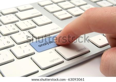 Analyze concept - keyboard with analyze key