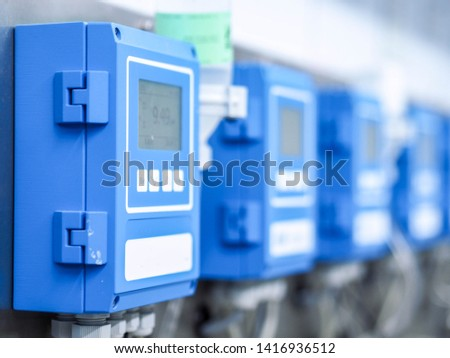 Analyzer to measurement PH for monitoring and control water quality in industry zone at power plant.