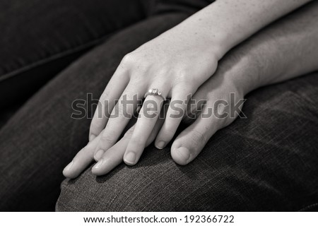 Anamnesia of a young couple embracing their hands #192366722