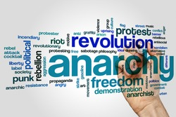 Anarchy word cloud concept