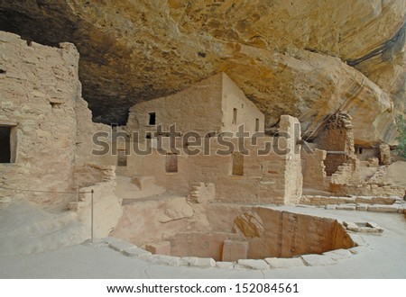 Anasazi Cliff Dwellings at Mesa Verde National Park, Colorado