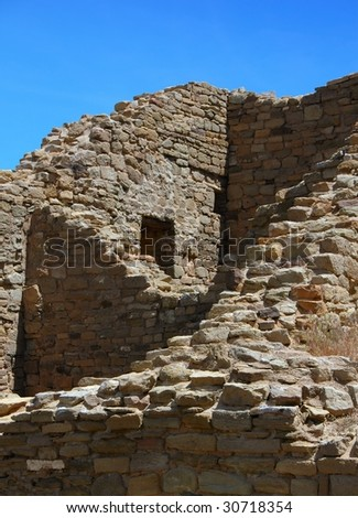 Anasazi ruins at Aztec National Monument, in Aztec, New Mexico.