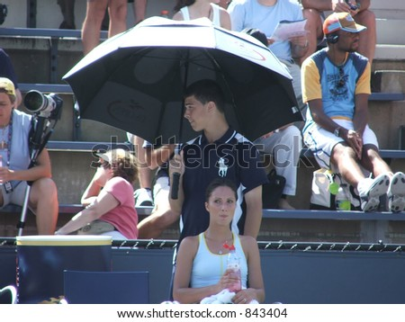 Anastasia Myskina Resting Between Games