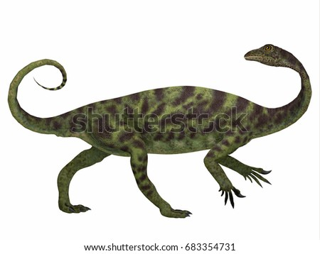 Shutterstock Anchisaurus Dinosaur Side Profile 3d illustration - Anchisaurus was a omnivorous prosauropod dinosaur that lived in the Jurassic Periods of North America, Europe and Africa.
