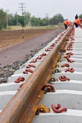 Anchor equipment Railway construction.