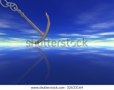 anchor on water