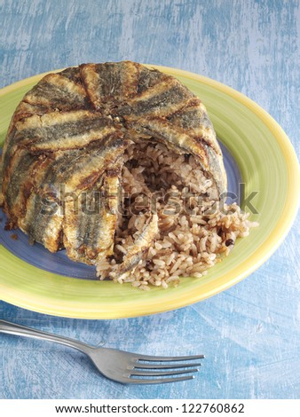 anchovy pilaf