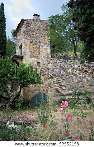 Ancient abandoned house in a village in southern France